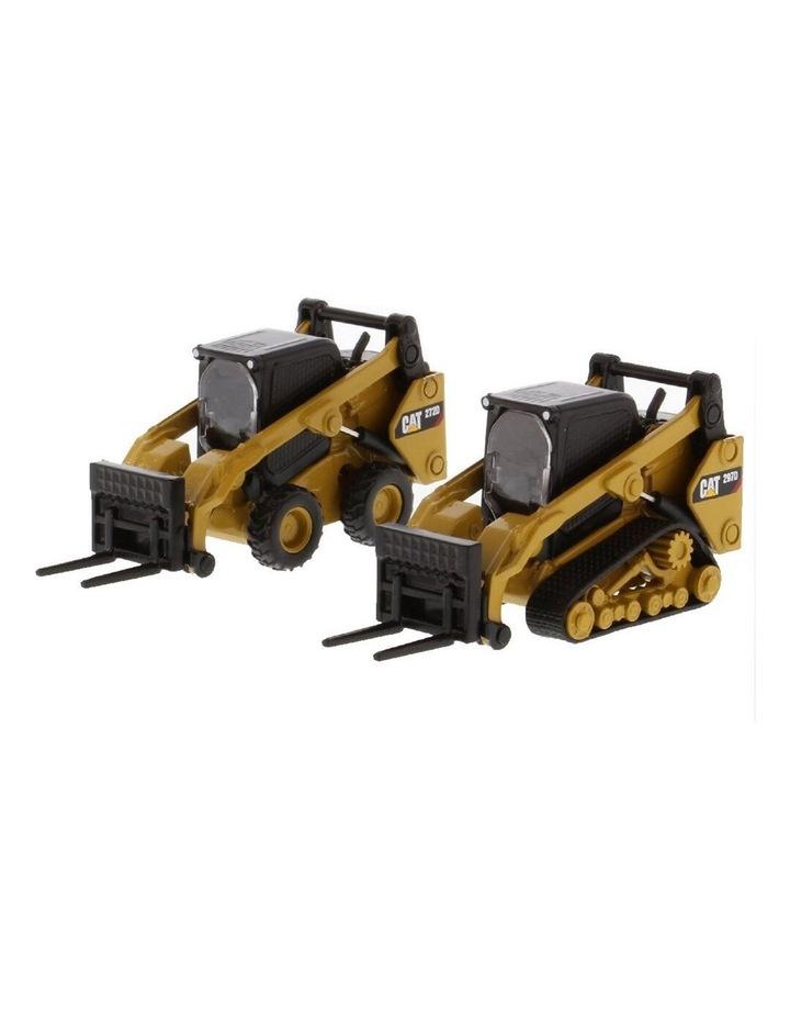 1:64 Diecast 272D2 Skid Loader & 297D2 Multi Terrain Loader Vehicle Toy YL image 1