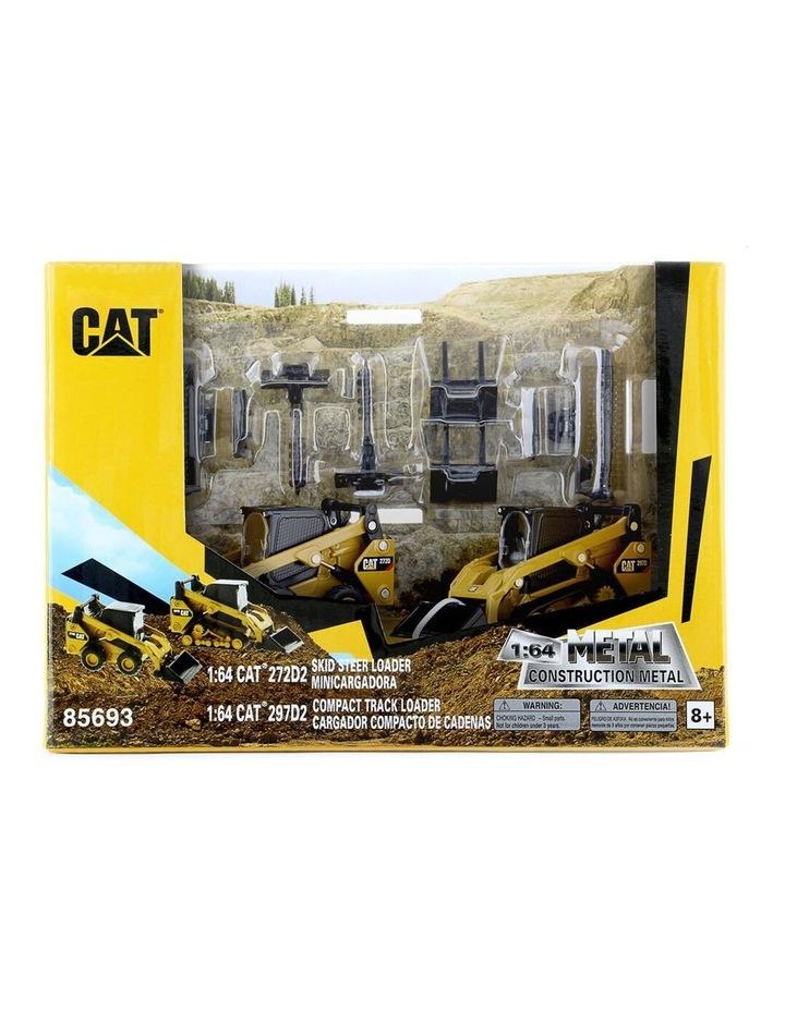 1:64 Diecast 272D2 Skid Loader & 297D2 Multi Terrain Loader Vehicle Toy YL image 2