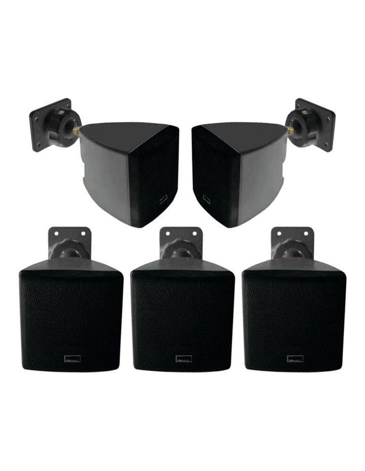 5.0ch Wall Mounted Satellite Speaker f/ Home Theatre/Music Black image 1