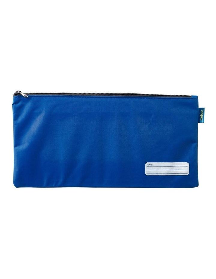 37cm School/Work Large Storage Zipper Pouch Pencil/Stationery Case Blue image 1