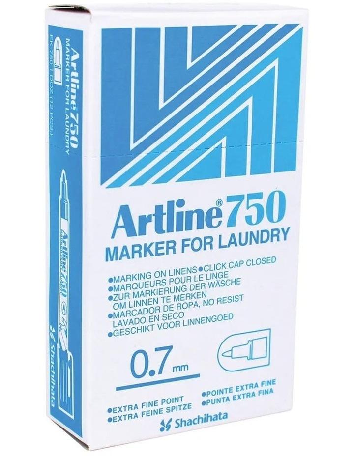 750 Laundry/Linen/Clothing/Fabric Bullet Nib 0.7mm Line Marker Black image 3