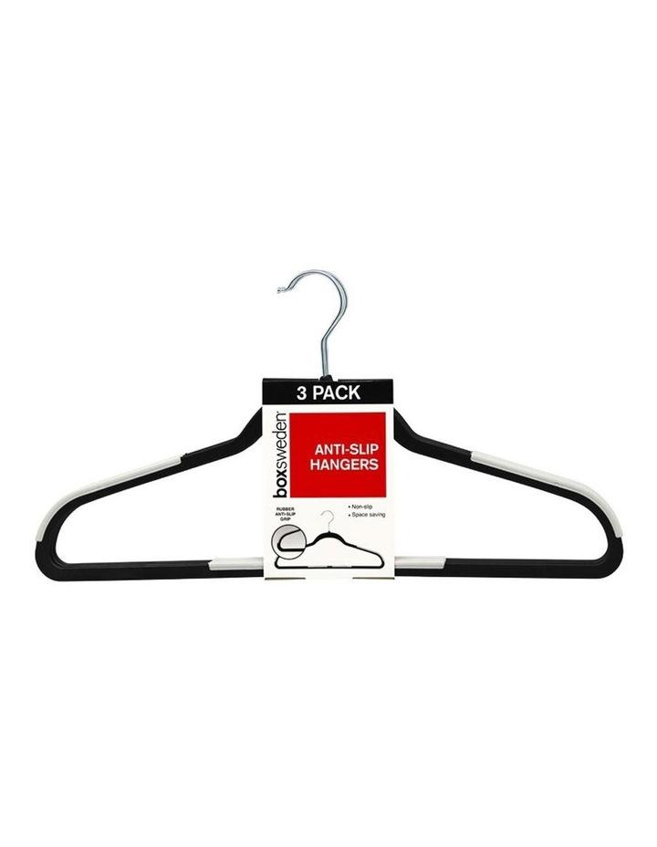 3PK Anti-Slip Hangers Organiser Clothing Wardrobe Hanger Assorted image 1