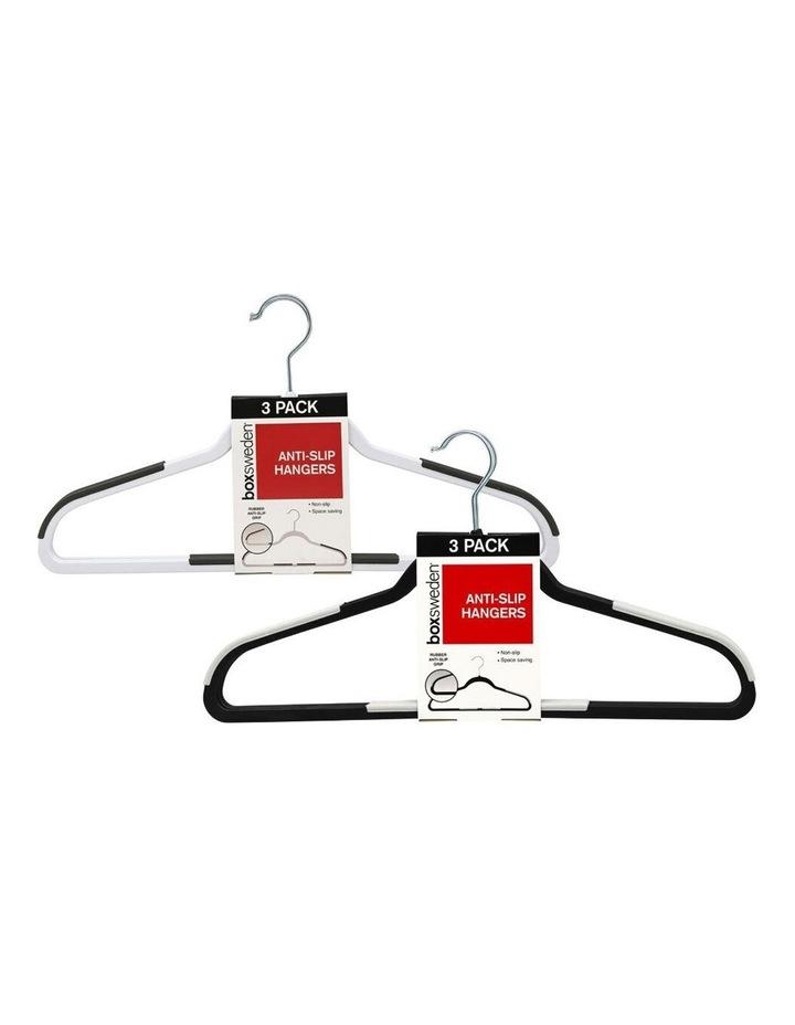3PK Anti-Slip Hangers Organiser Clothing Wardrobe Hanger Assorted image 3