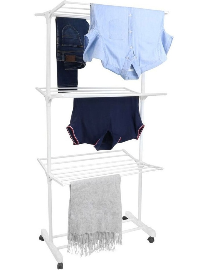 3 Tier Foldable Clothes Airer Folding Hanger/Drying Rack Stand White image 1
