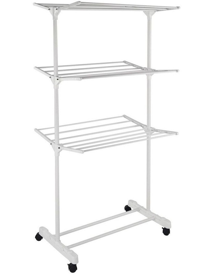 3 Tier Foldable Clothes Airer Folding Hanger/Drying Rack Stand White image 2