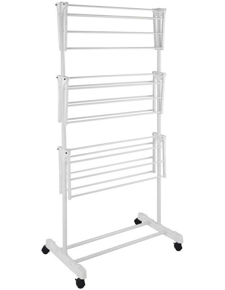 3 Tier Foldable Clothes Airer Folding Hanger/Drying Rack Stand White image 3