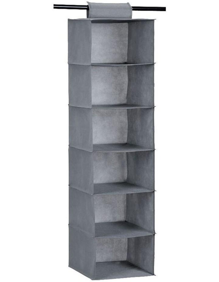 Mode 6 Tier 115cm Hanging Wardrobe Storage Clothes Organiser Assorted image 2