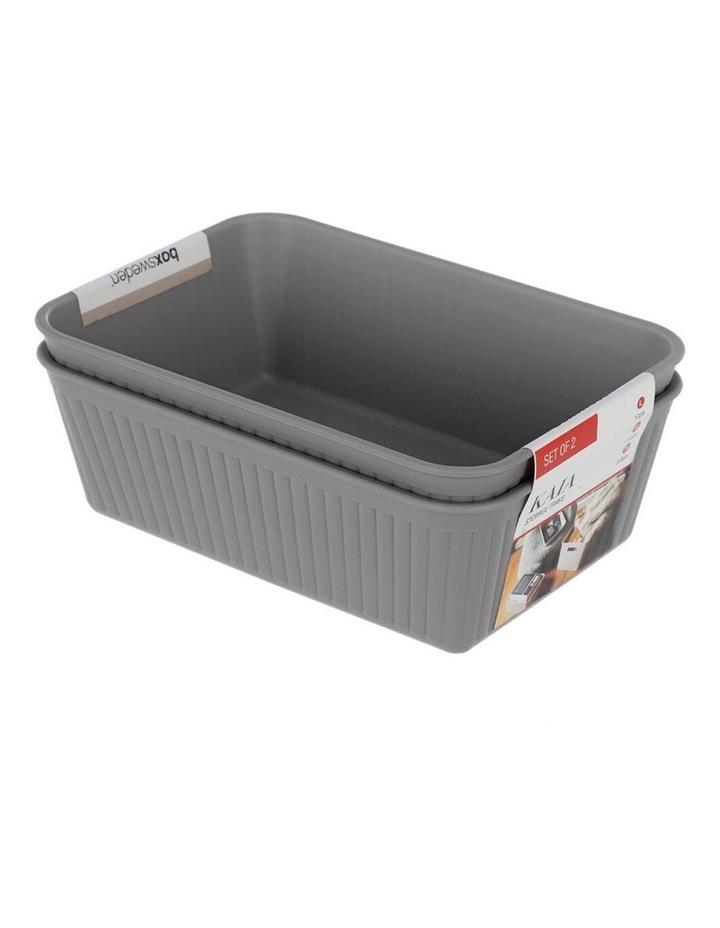 2PK 17cm Kaia Storage Trays Home/Room Desk Organiser Holder Assorted image 4