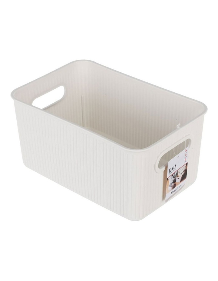 27.5cm Kaia Storage Basket Organiser Container w/ Handles Assorted image 4