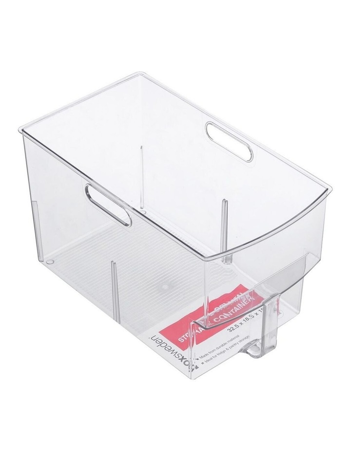 Crystal Plastic Storage Container/Bin 32cm Large Fridge/Pantry Bin image 1