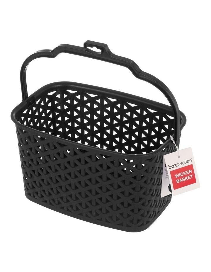 Wicker Design Peg Basket Storage Holder/Organiser w/ Hook Assorted image 1