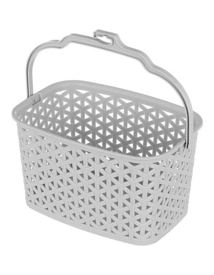 Wicker Design Peg Basket Storage Holder/Organiser w/ Hook Assorted image 2