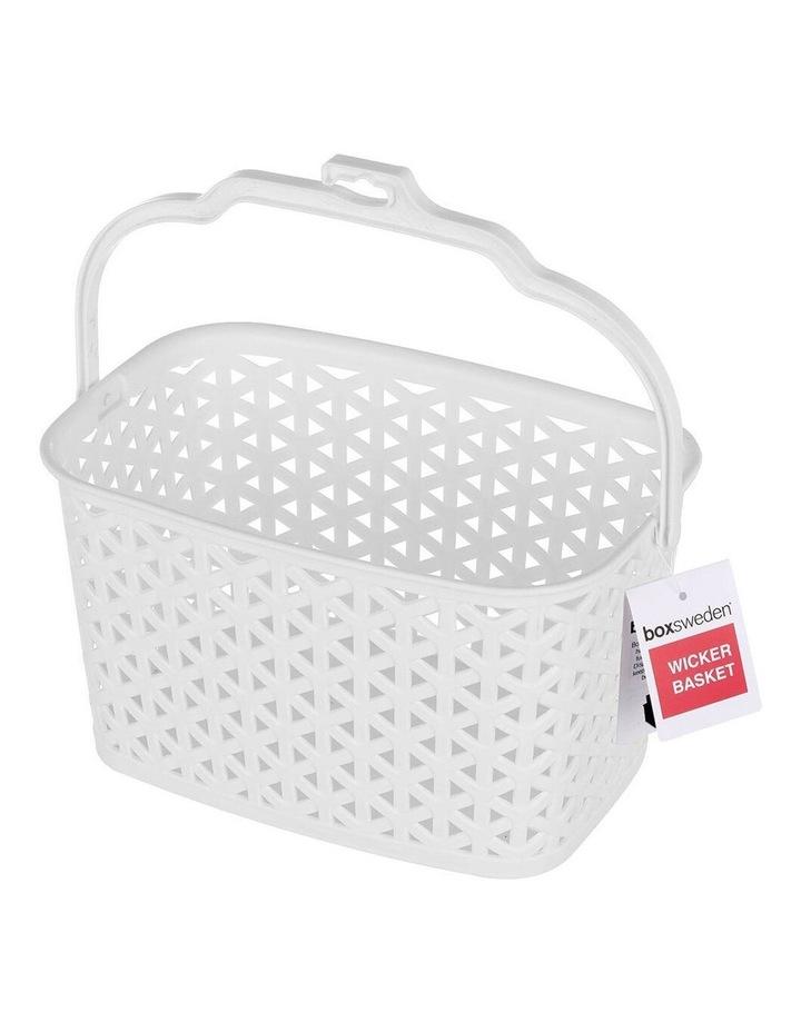 Wicker Design Peg Basket Storage Holder/Organiser w/ Hook Assorted image 3