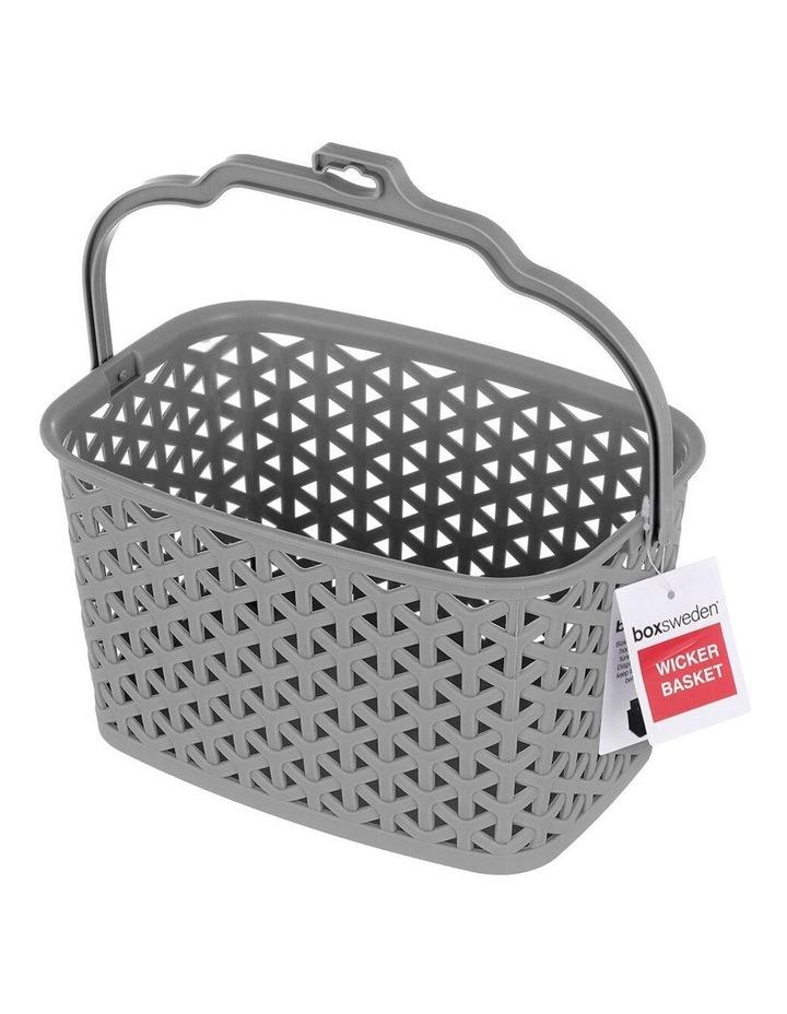 Wicker Design Peg Basket Storage Holder/Organiser w/ Hook Assorted image 4