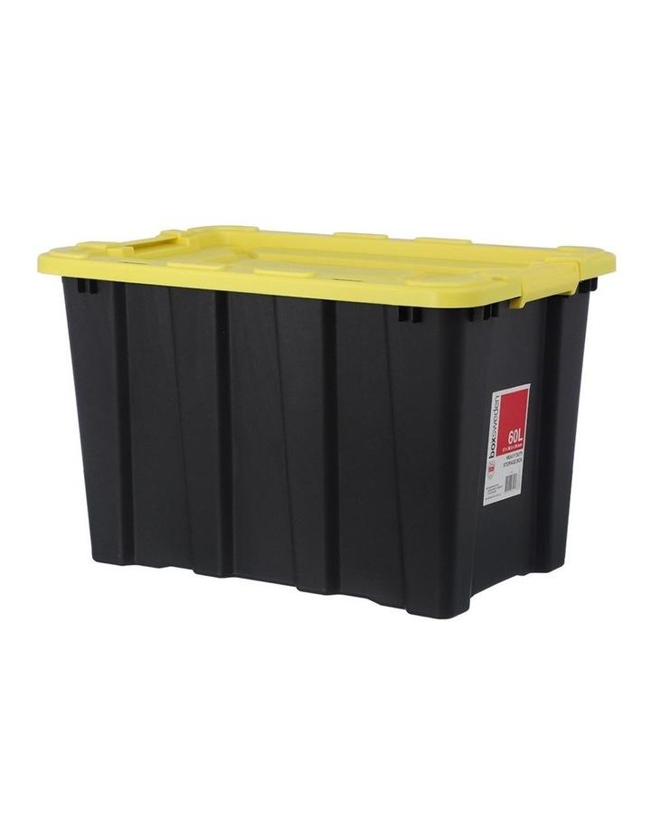 60L Heavy Duty Garage Tools/Toys Storage Box Home Organisation Assort image 1