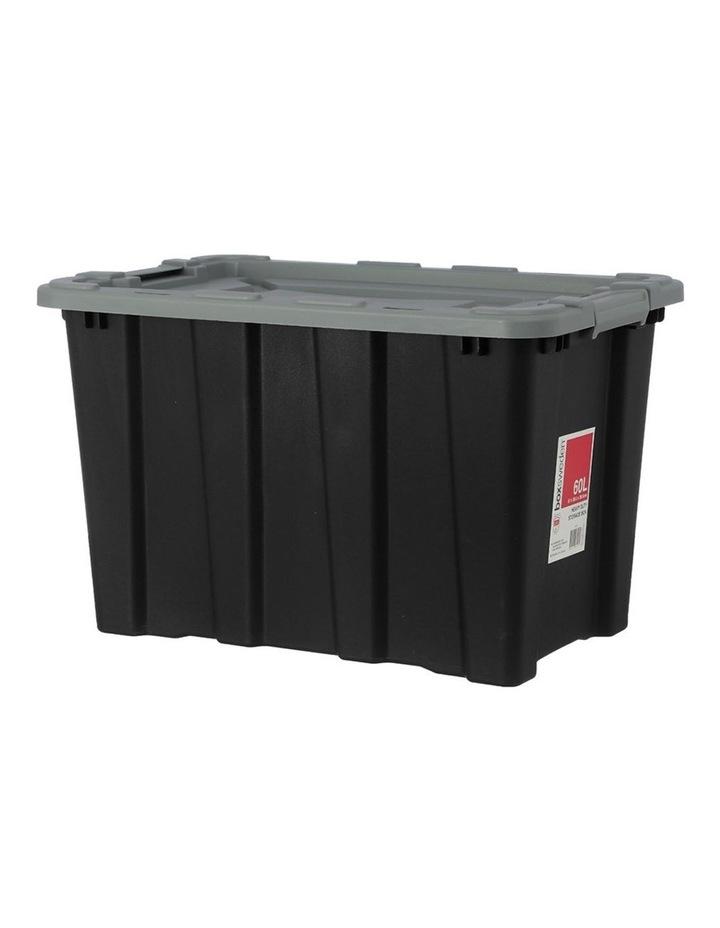 60L Heavy Duty Garage Tools/Toys Storage Box Home Organisation Assort image 2