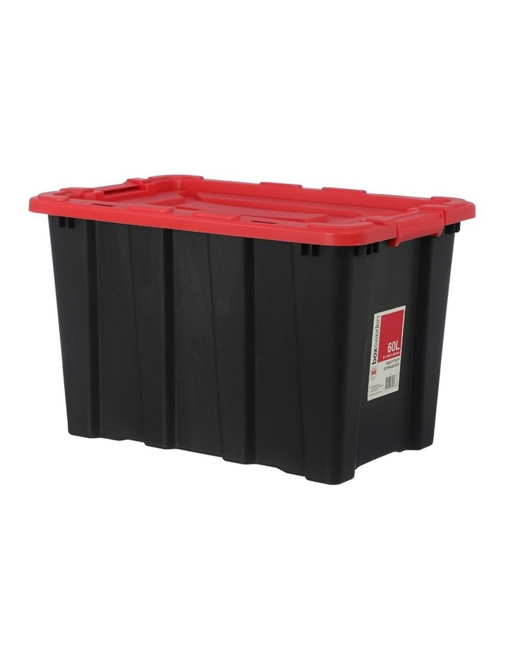 60L Heavy Duty Garage Tools/Toys Storage Box Home Organisation Assort image 3
