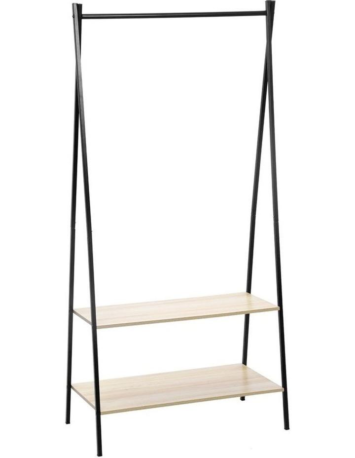 Garment/Clothes Rack/Closet Hanger Organiser/Storage w/ Wood Shelves image 1