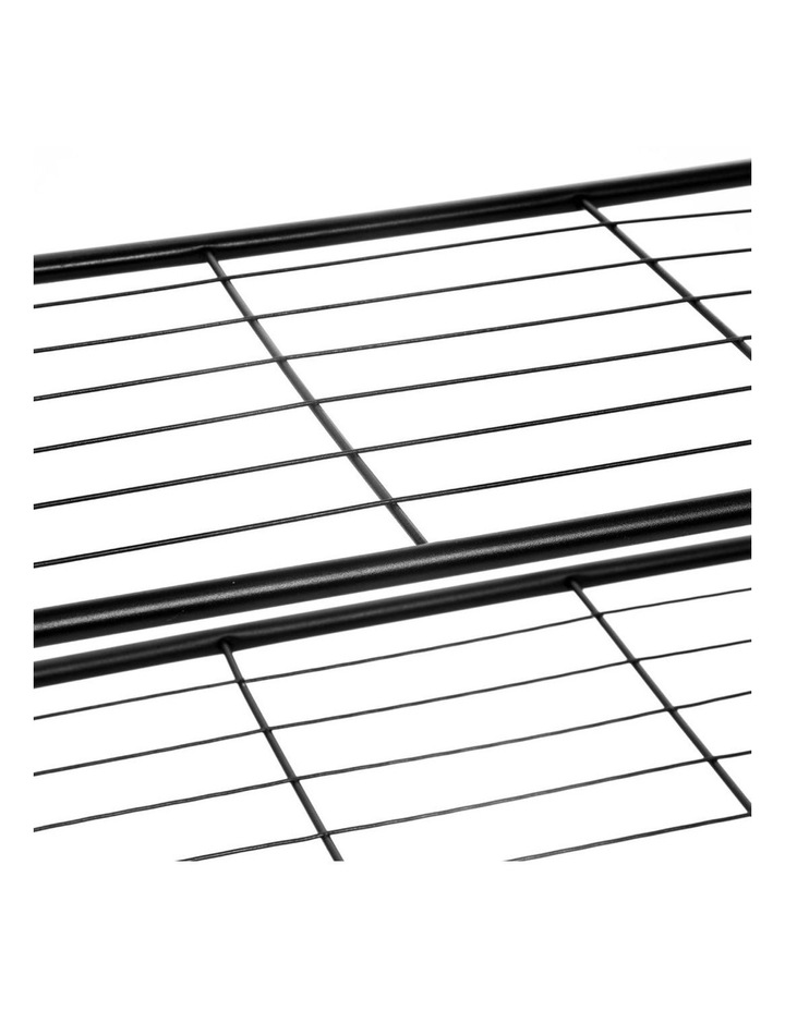 85cm Metal Frame Display 5 Tier Shelf Rack Organiser w/ Wood Top BRN image 3