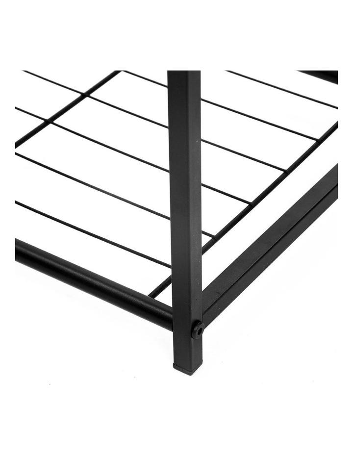 85cm Metal Frame Display 5 Tier Shelf Rack Organiser w/ Wood Top BRN image 4