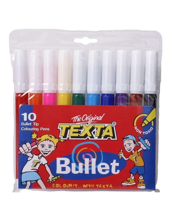 10pc Bullet Tip Colouring Pens Drawing Art Marker Water Based Pen f/ Kids image 1
