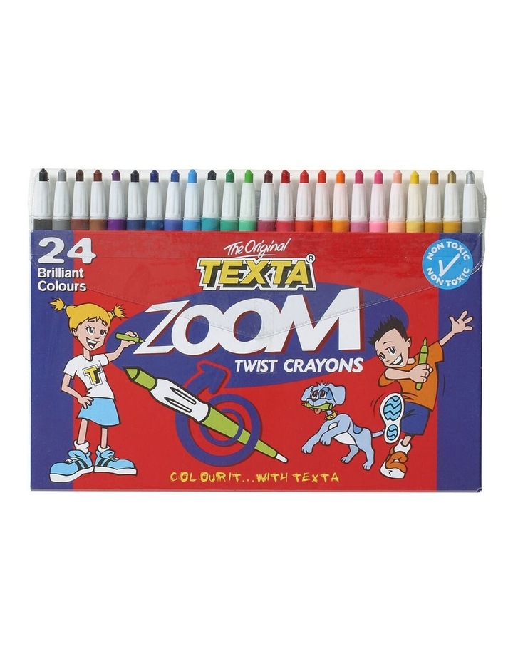 24 Pack The Original Zoom Non Toxic Twist Crayons Colouring/Drawing Sketch image 1