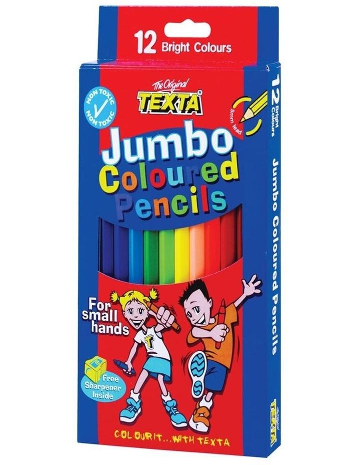 12pc Jumbo Colouring Pencils Art Drawing Coloured Draw Pencil f/ Kids image 1