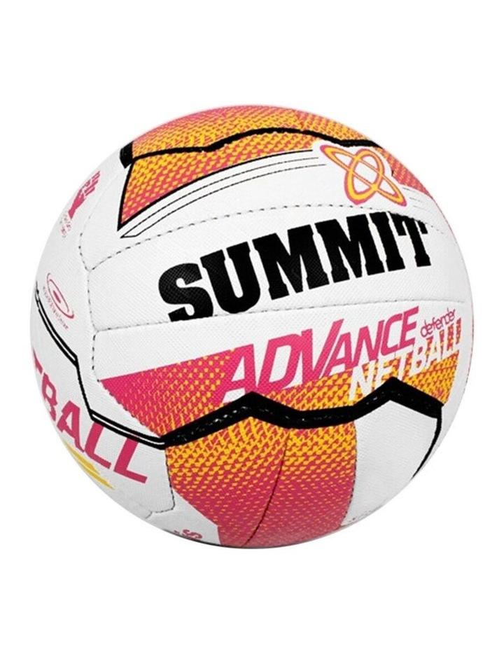 Netball Training Ball Size 4 Liz Ellis 18 Stitched Panel/Sport Pink/White image 1