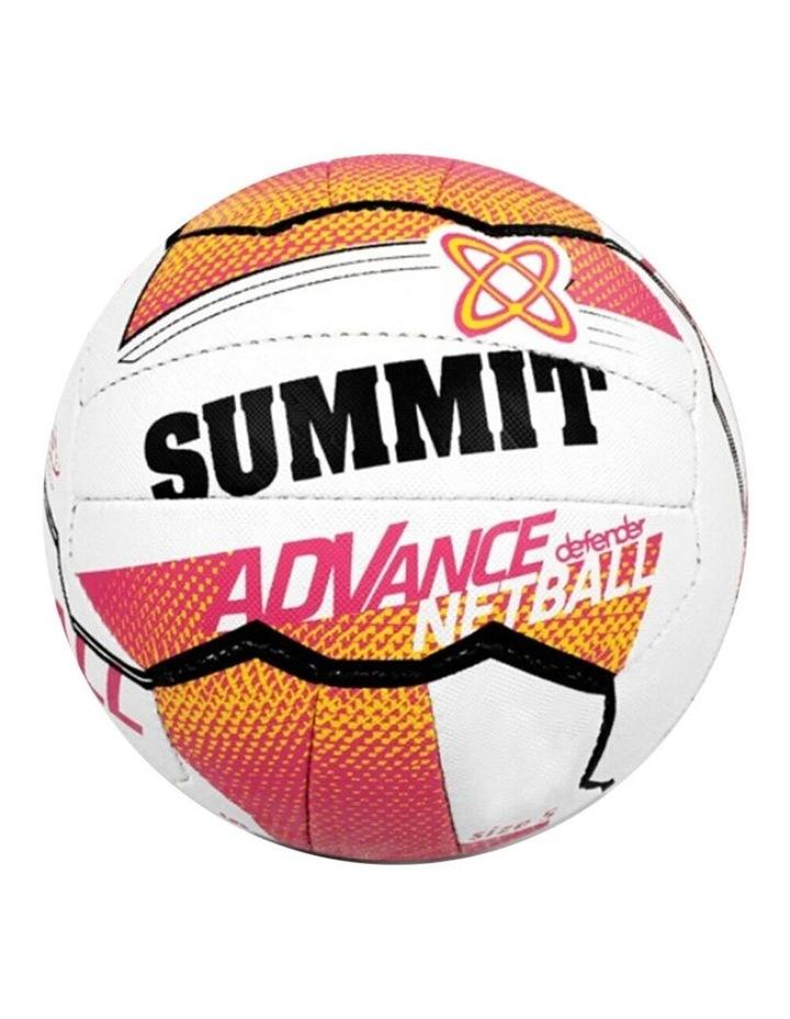 Netball Training Ball Size 4 Liz Ellis 18 Stitched Panel/Sport Pink/White image 2