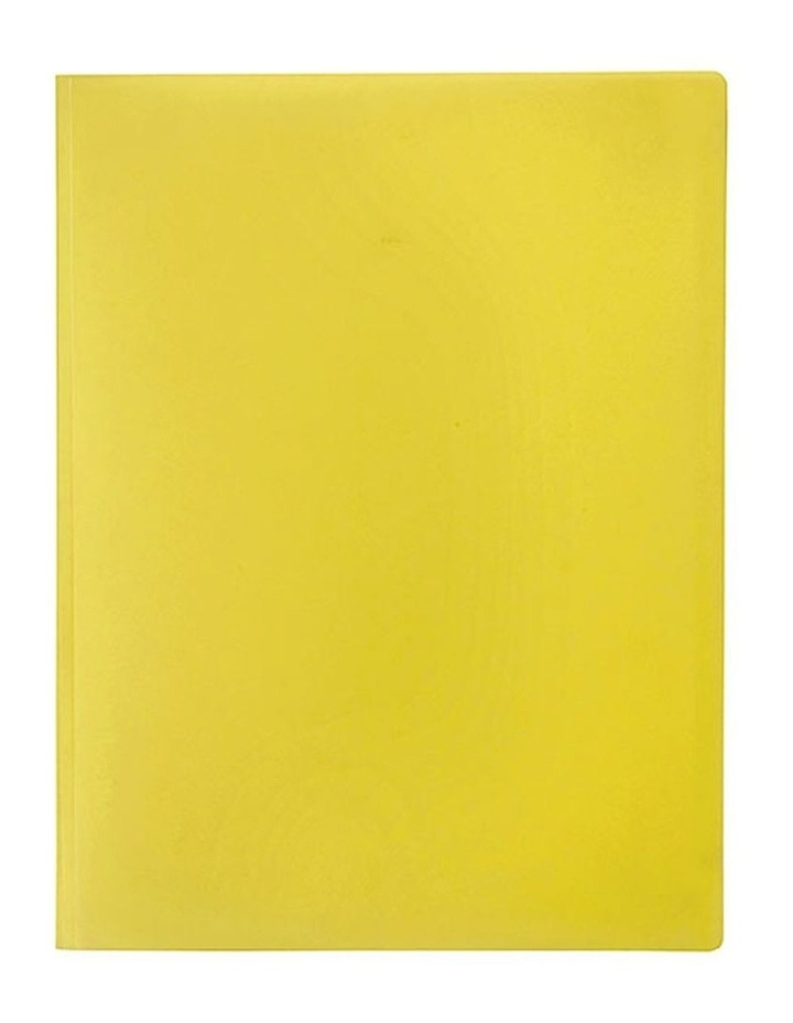 A4 Soft Touch Display Book for Paper/Documents Storage 12 Pockets Yellow image 1