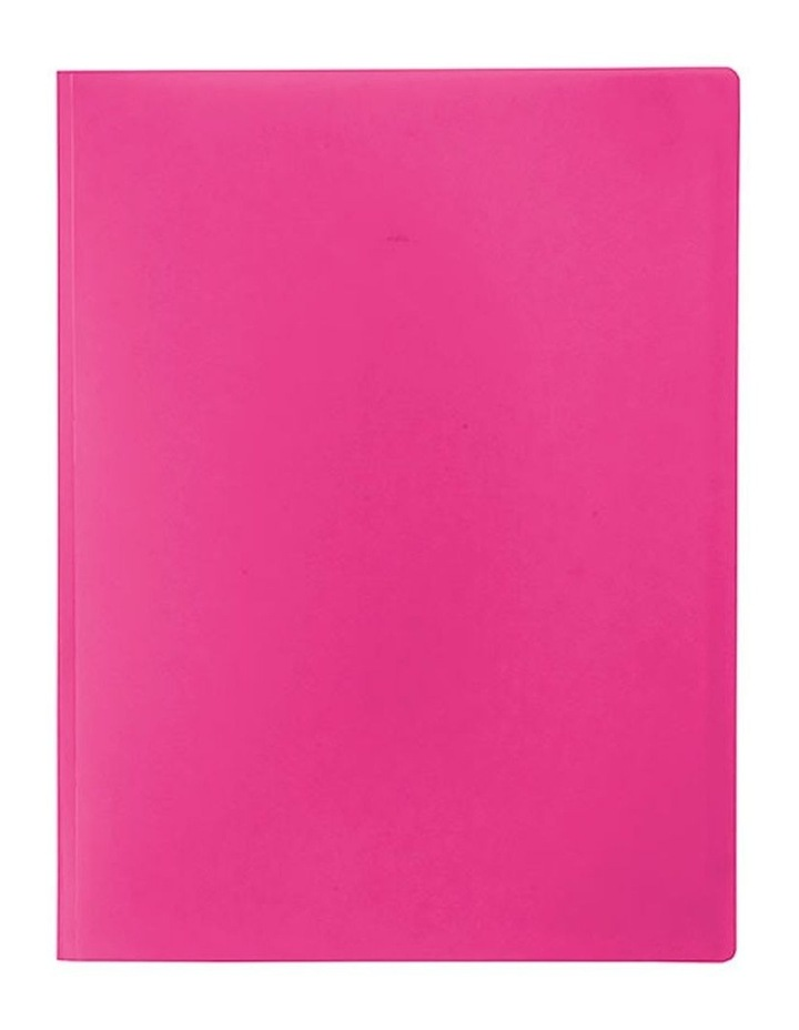 A4 Soft Touch Display Book for Paper/Documents Storage 12 Pockets Pink image 1