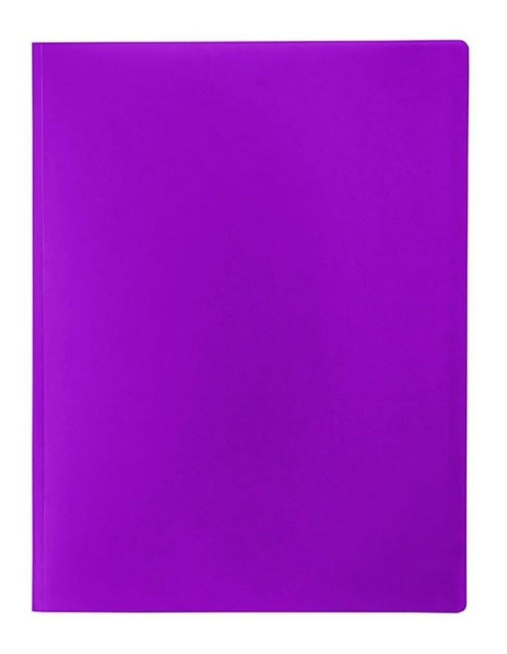 A4 Soft Touch Display Book for Paper/Documents Storage 12 Pockets Purple image 1