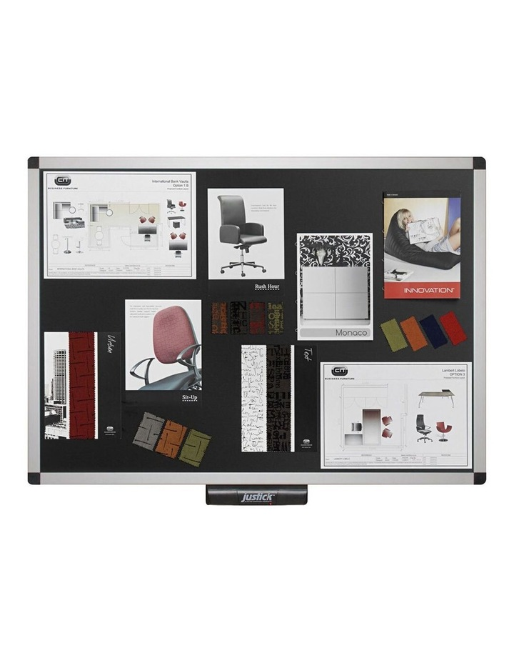 Electro Adhesion 90cm Bulletin/Notice Memo Board/Displays Office Black image 1