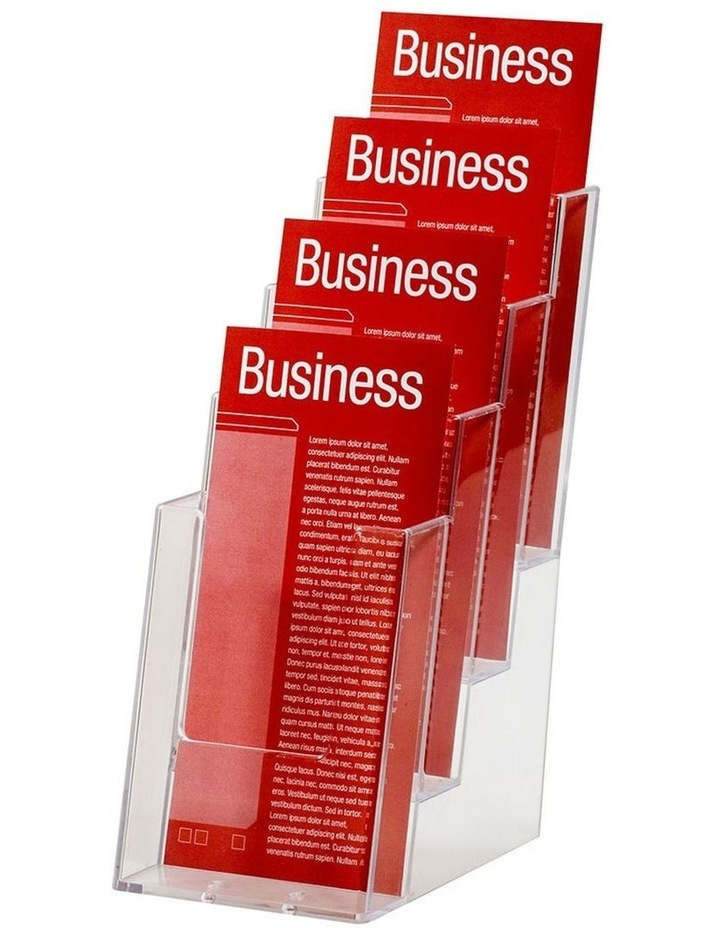 1/3 A4 4 Tier Counter Brochure/Flyers Holder/Case Display f/ Office image 1