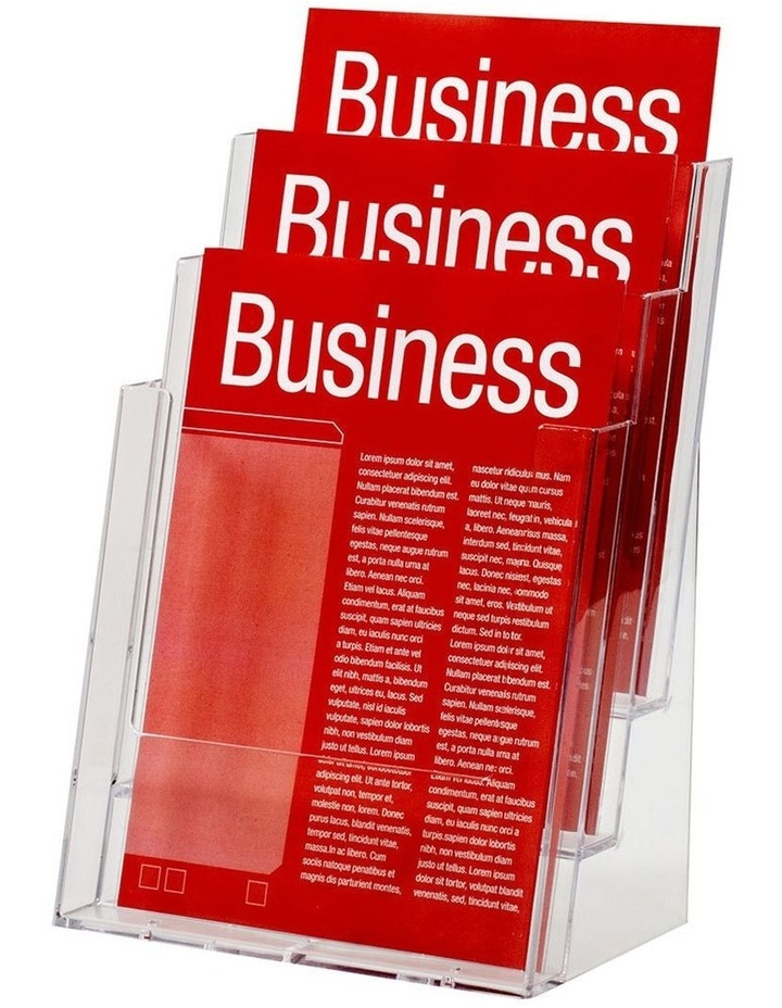 23cm A4 3 Tier Counter Brochure/Flyers Display Holder/Case f/ Store image 1
