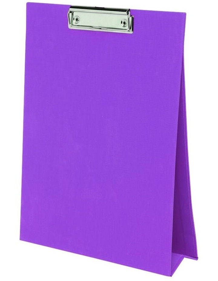A4 Paper Stand Up Clipboard/Whiteboard Document Writing Board Purple image 1