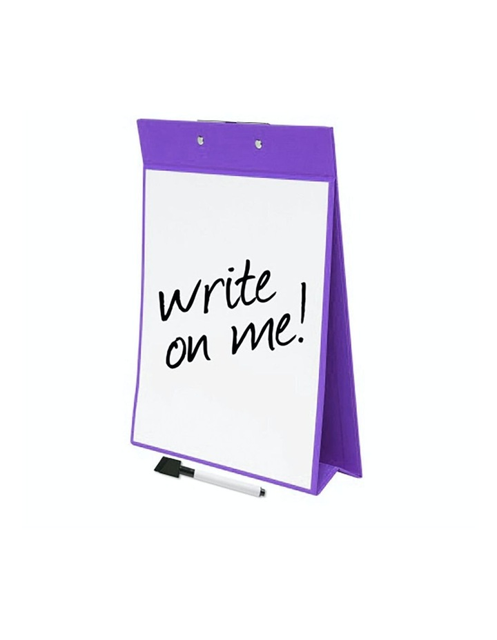 A4 Paper Stand Up Clipboard/Whiteboard Document Writing Board Purple image 3
