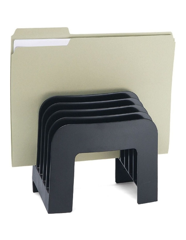 Verticalmate Documents/File Sorter/Organiser 5 Compartments Charcoal image 1