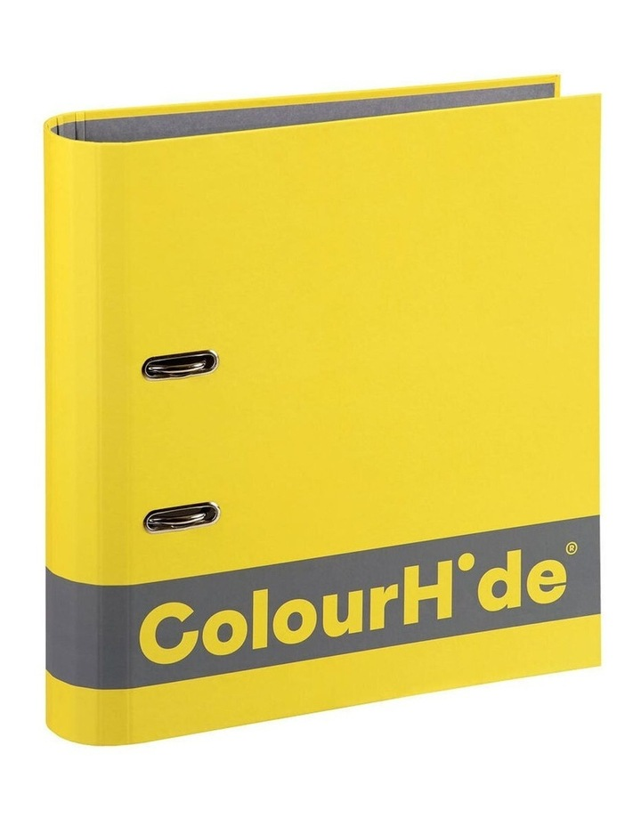 A4 70mm 375 Sheets Silky Touch Lever Arch File/Paper Organiser Yellow image 1