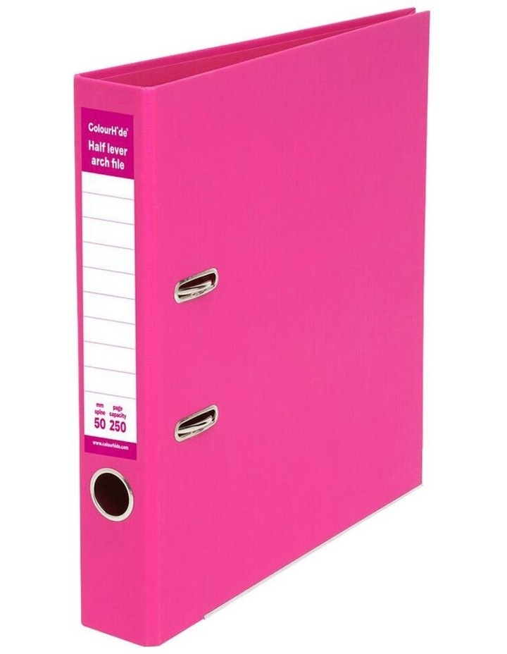A4 50mm 250 Sheets Half Lever Arch File/Paper Office Organiser Pink image 1
