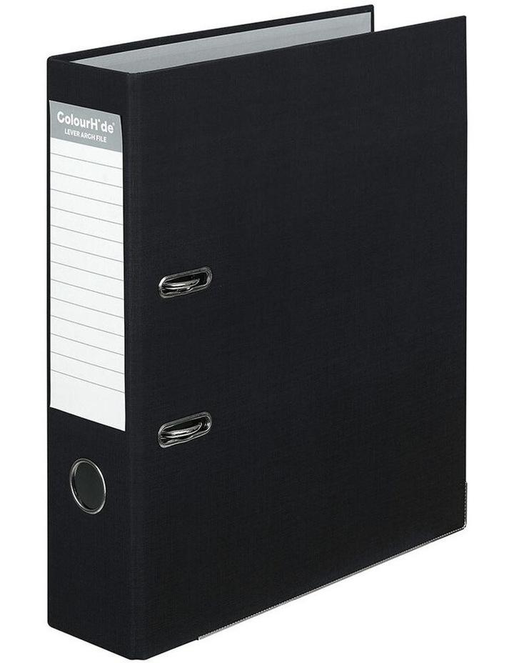 A4 75mm 375 Sheets Lever Arch Folder/Binder File Organiser Office BK image 1