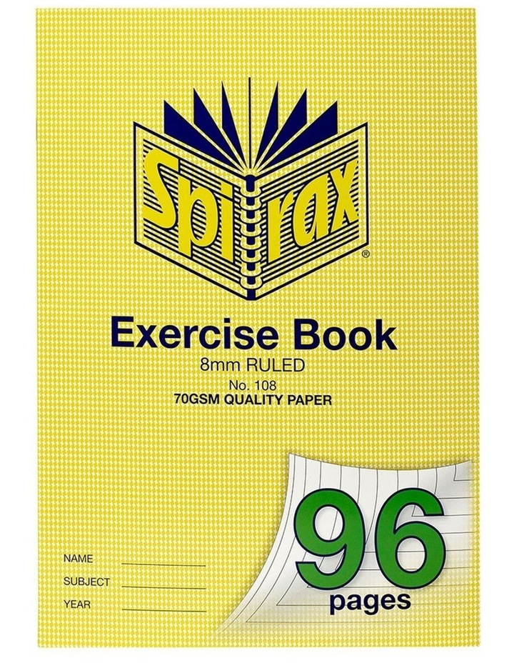 70GSM 96 Pages A4 8mm Ruled No.108 Exercise Book School Notebook image 1