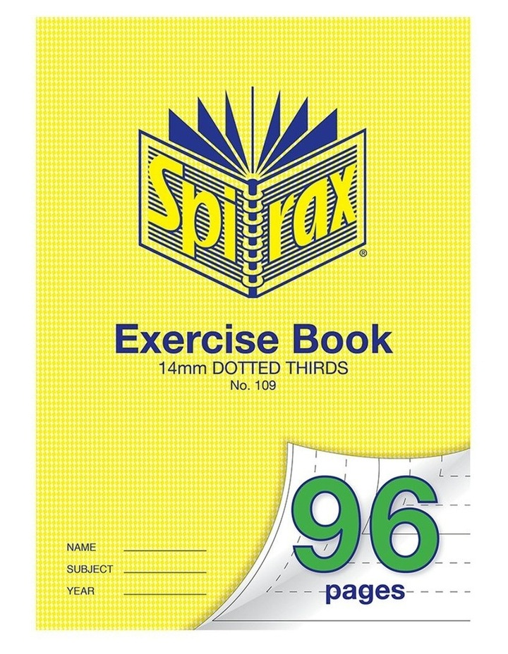 70GSM 96 Pages A4 14mm Dotted Third No.109 Exercise Book School Notebook image 1