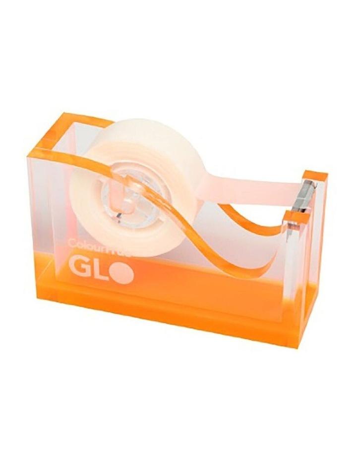 GLO 25mm Tape Core Office Dispenser/Holder w/ Rubberised Feet Orange image 1