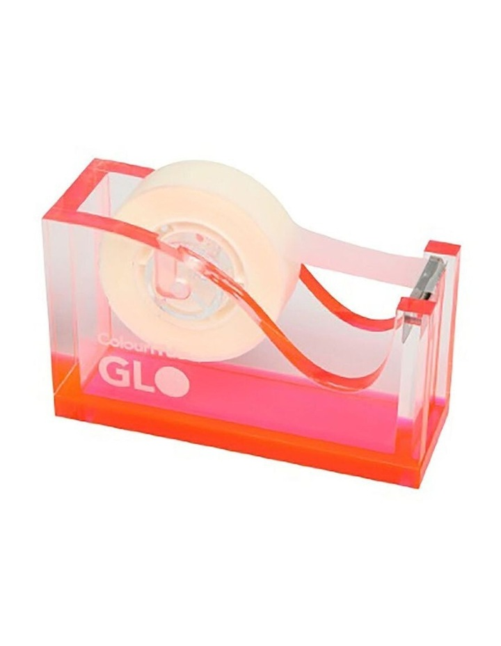 GLO 25mm Tape Core Office Dispenser/Holder w/ Rubberised Feet Pink image 1