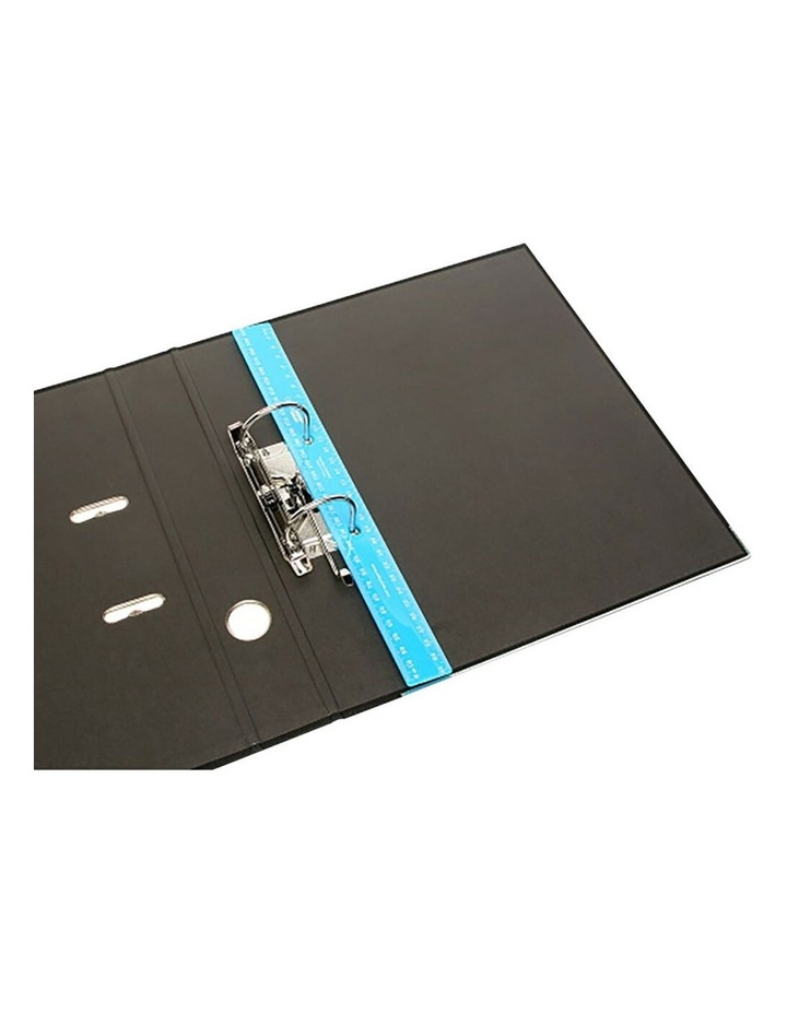 Bindermate 30cm Metric Plastic Ruler w/ Holes for File Binder Blue image 2