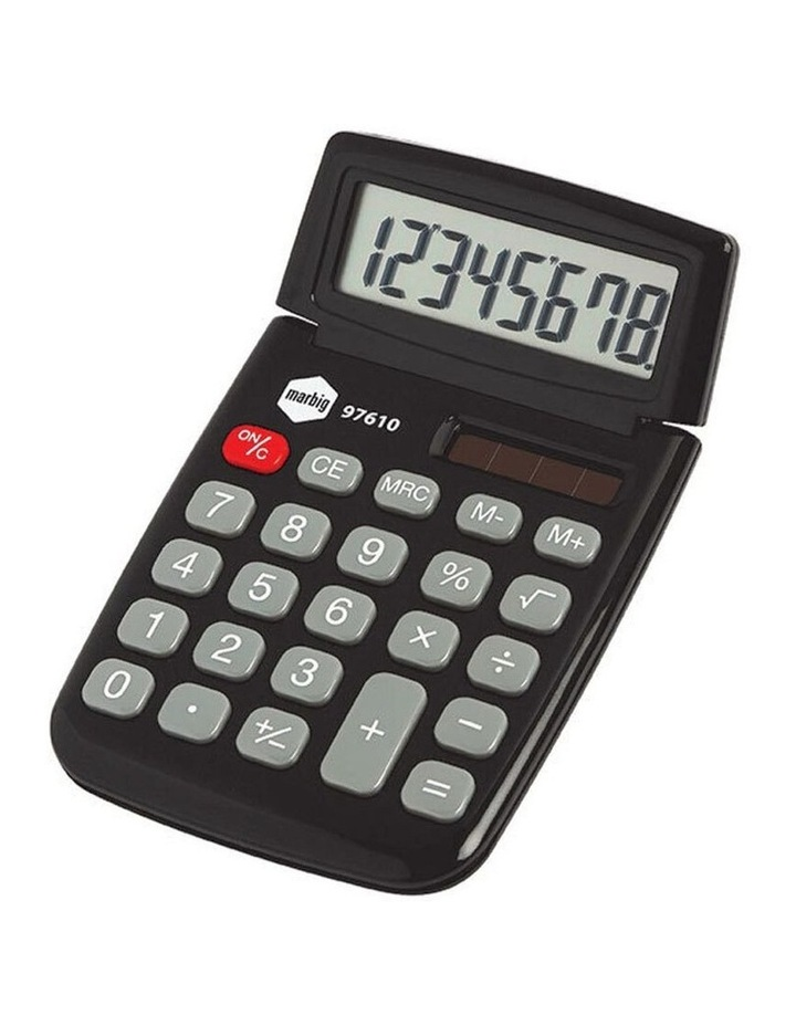 Dual Powered 8 Digit Pocket Solar Power Handheld Calculator Office Black image 1