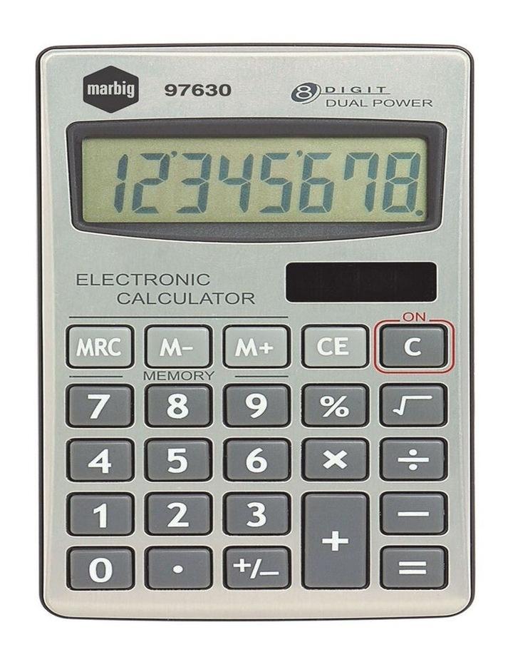 8 Digit Handheld Calculator Home/Office/School w/ Large Display Silver image 1
