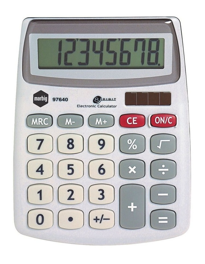8 Digit Compact Desktop Calculator Office/Home/School Solar Large Display image 1