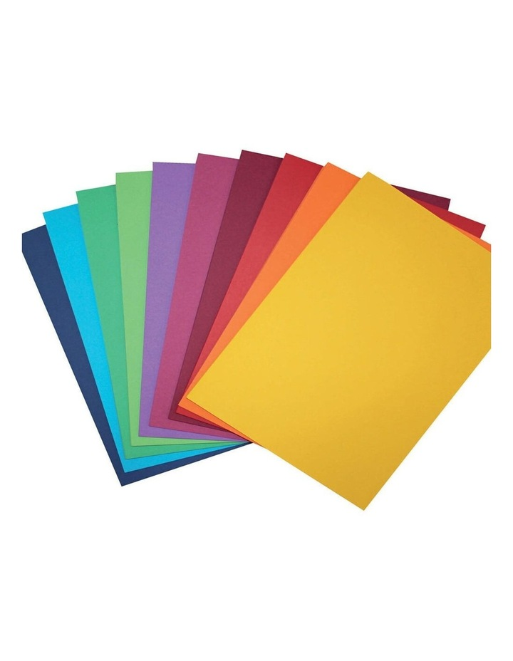 100 Pack A4 Colour Board 200gsm Paper Craft School Sheets Assorted image 1